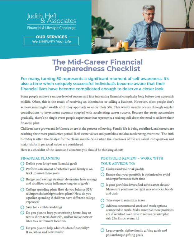 JHA Pre-Retirement Checklist